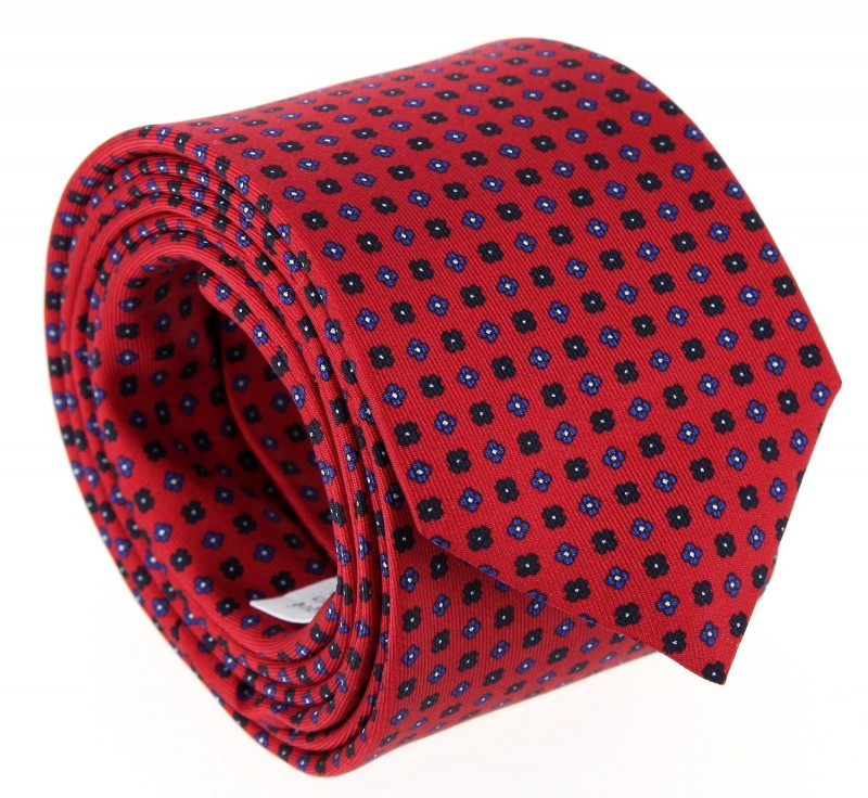 The Nines Red Floral Tie - Vence III
