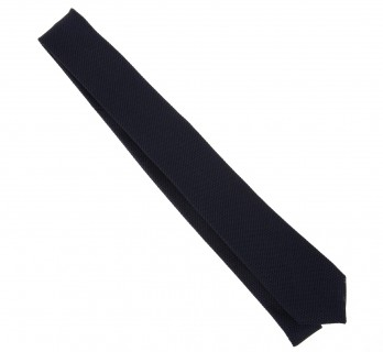 Navy Blue Grenadine Silk The Nines Narrow Tie - Grenadines V