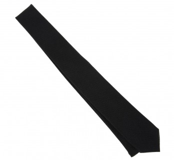 Black Grenadine Silk The Nines Narrow Tie - Grenadines V