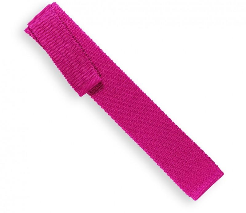 Fuchsia Knit Tie Monza
