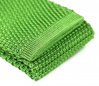 Apple Green Knit Tie - Monza