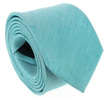 Green Lagoon Basket Weave Linen and Silk Tie - Parme