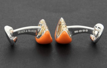Fruit cufflinks - Orange