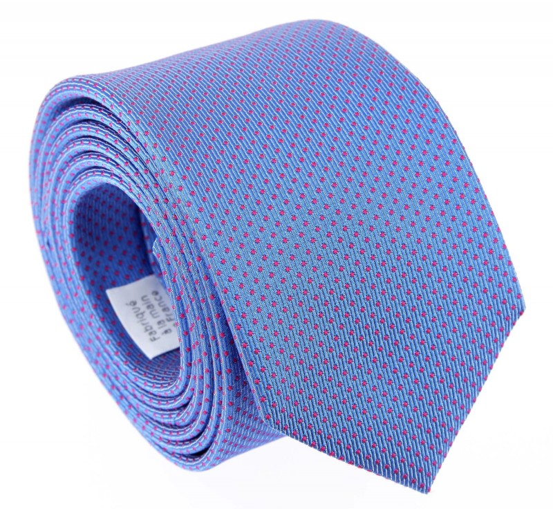 Blue with Pink Dots The Nines Tie - Atlanta III