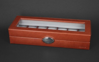 Cognac casket with cufflinks racks