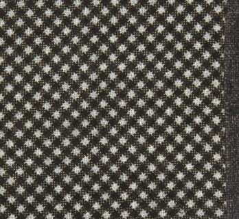 Brown Wool Pocket Square with Square Pattern - Foggia II
