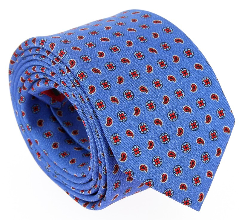 Blue The Nines Tie with Red Pattern - Vence IV