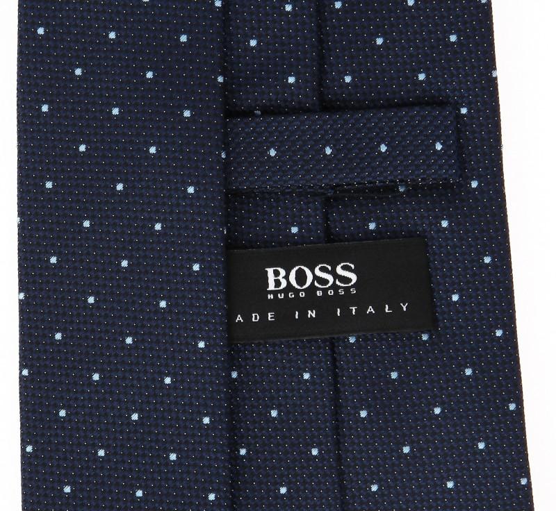 hugo boss navy blue tie with light blue polka dots. Black Bedroom Furniture Sets. Home Design Ideas