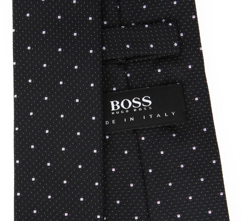 hugo boss black basket weave tie with pink polka dots. Black Bedroom Furniture Sets. Home Design Ideas