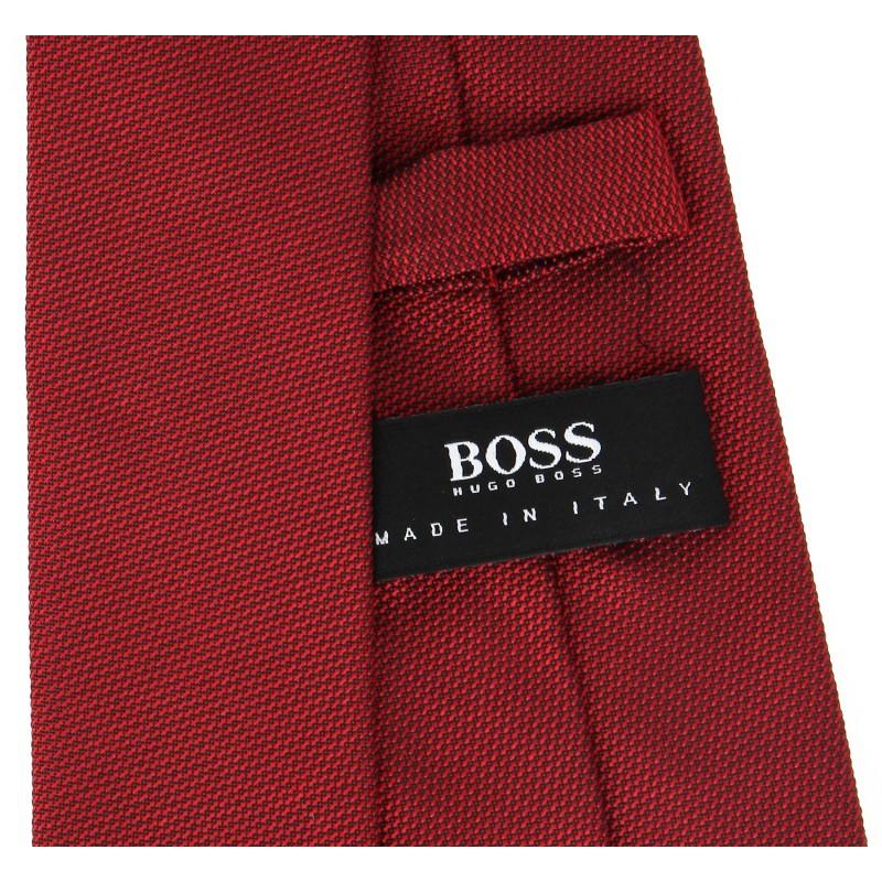 hugo boss red basket weave slim tie. Black Bedroom Furniture Sets. Home Design Ideas