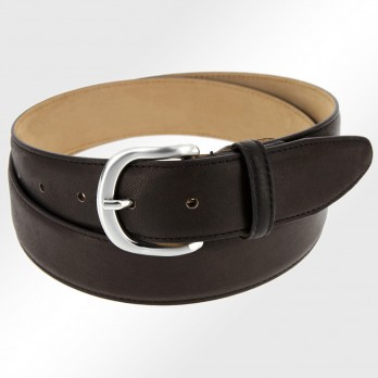 Leather belt in dark brown - Morgan