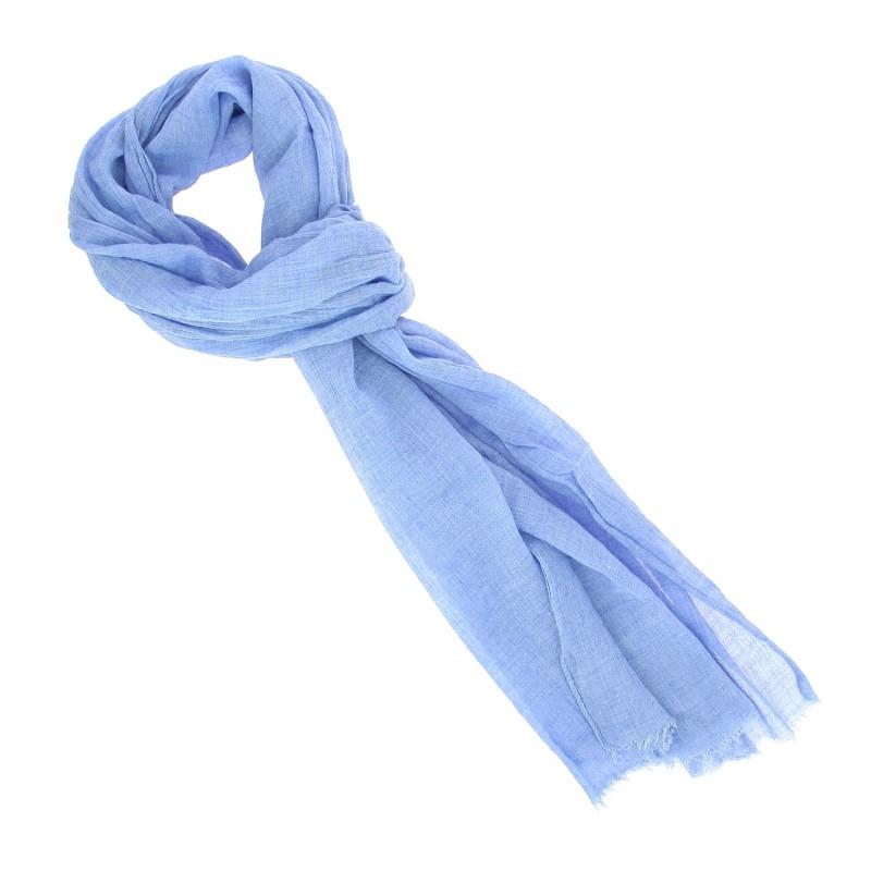 Echarpe Breuer à motif tartan bleu - Johan