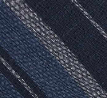 Echarpe AMC accessories bleu marine à rayures en coton - Comptoir du Foulard