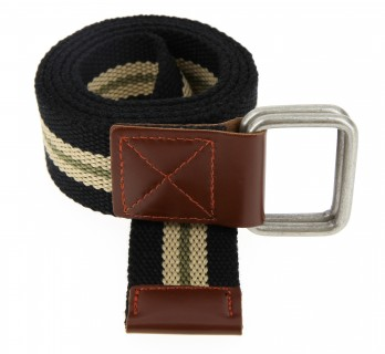 KHAKI GREEN STRIPED HESSIAN BELT