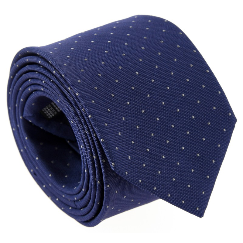 Navy Blue with Grey Dots The Nines Tie - Columbus
