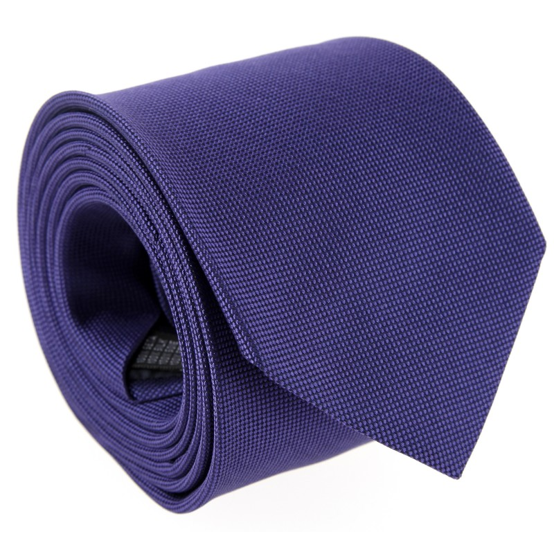 Purple The Nines Basket Weave Silk Tie - Baltimore III