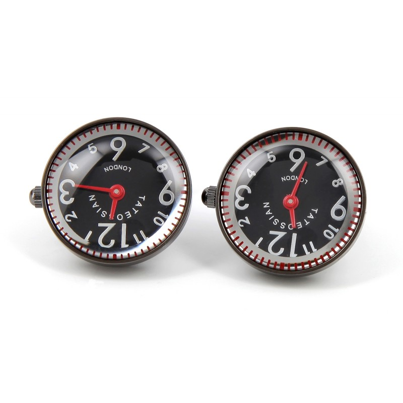 Tateossian cufflinks - Racing Watch gunmetal