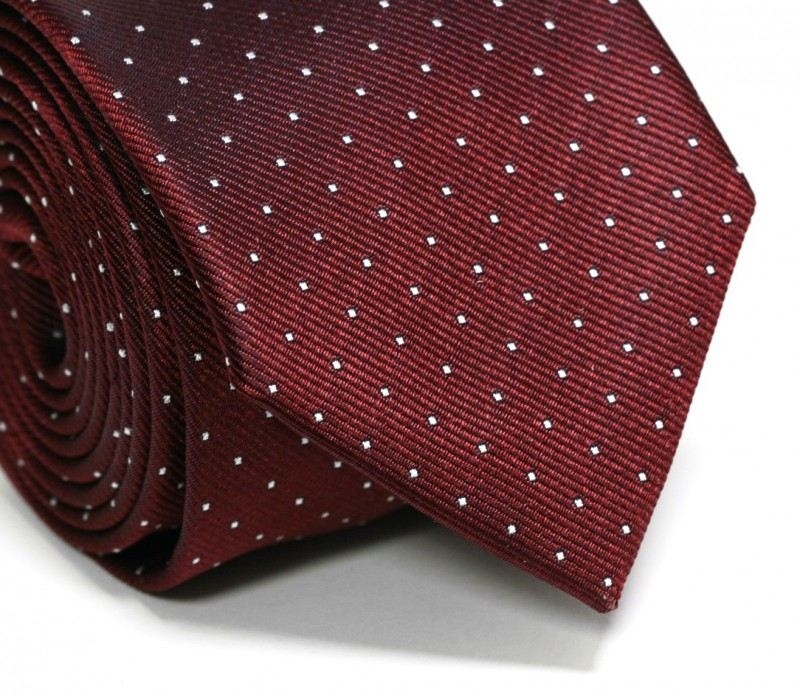 Burgundy Tie With White Mini Dots Red Tie The House Of