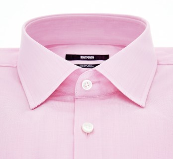 Slim Fit Pink Dobby Classic Collar Shirt by Hugo Boss