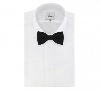 Black Knitted Wool Bow Tie - Legnano