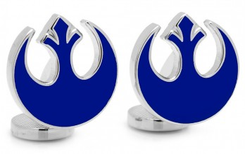Star Wars cufflinks - Blue Rebel Symbol