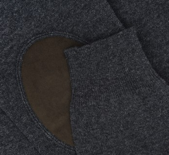 V-neck Anthracite Wool and Cashemere Sweater by Hackett