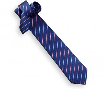Blue Tie with Pink Stripes - Seattle