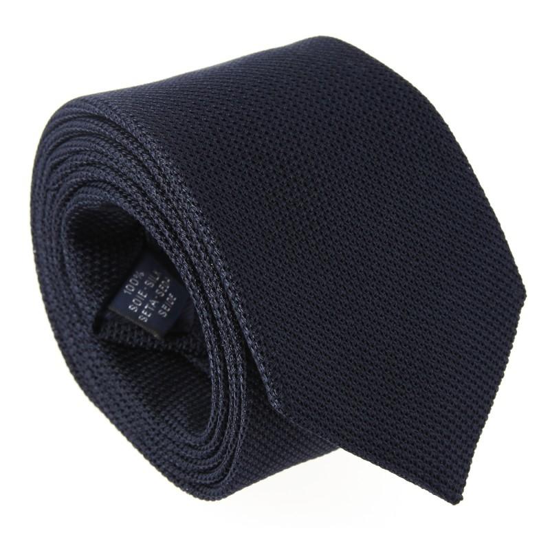 Navy Blue Grenadine Silk The Nines Tie - Grenadines IV