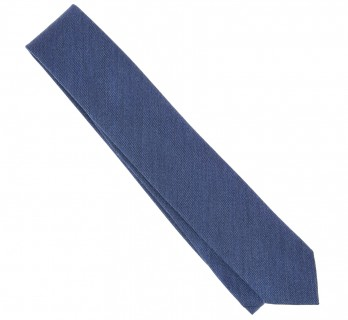Blue Wool and Silk Tie - Brisbane II