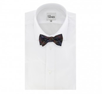 Brown, Navy Blue and Red Tartan The Nines Bow Tie - Dunbar