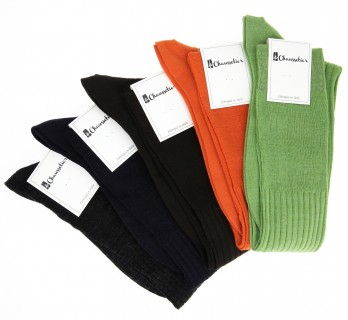 5 pairs of high virgin wool socks, automn colours