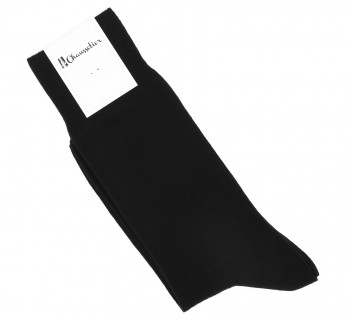 Combed cotton socks in black