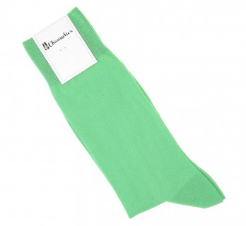 Combed cotton socks in mint green water