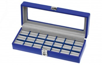 Electric Blue cufflinks casket