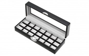 Black casket with cufflinks racks II