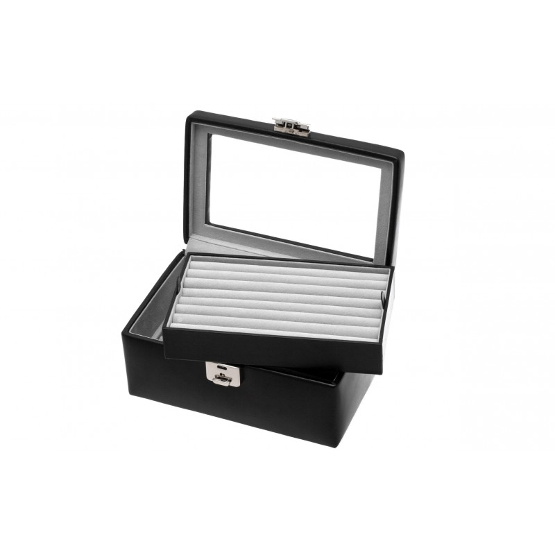 Black collector cufflinks casket