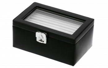 Black collector cufflinks casket