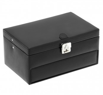 Black watches and cufflinks casket