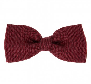 Carmine Red Wool and Silk Bow Tie - Brisbane II