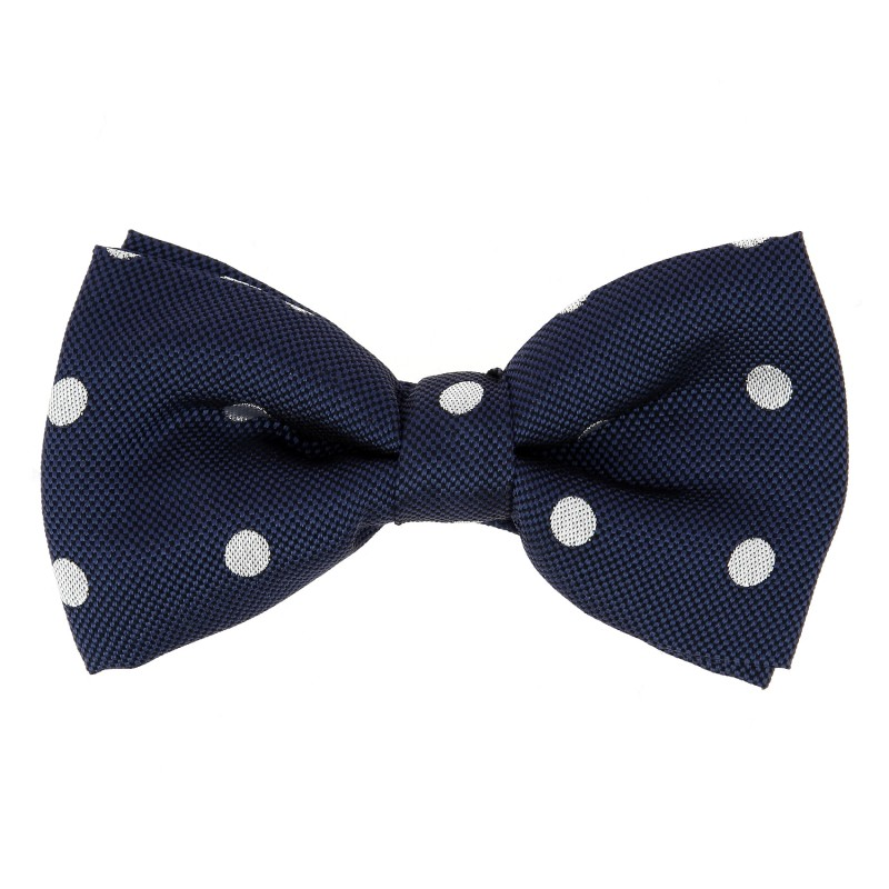 6c4a9e071bcd Navy Blue Bow Tie with White Big Dots Tie - Louisville III