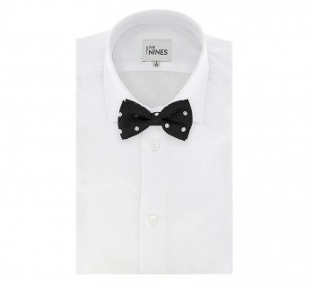 Black Bow Tie with White Big Dots Tie - Louisville III