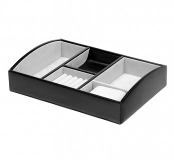 Black leather Storage tray - LIL