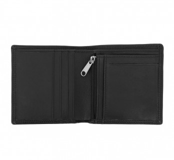 Black leather horizontal wallet - ROM