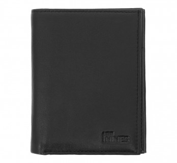 Vertical black leather wallet - MIL