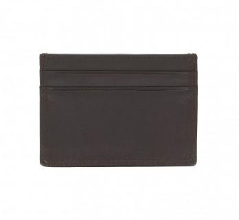 Porte-cartes cuir moka- LHR