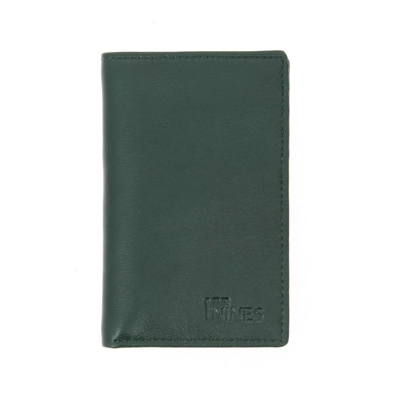 Porte-cartes et porte-billets cuir vert - ORY