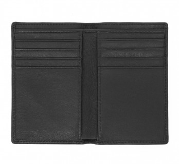 Black leather wallet - ORY