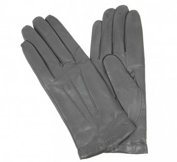 Grey leather gloves - FLR