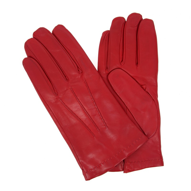Gants rouges en cuir - CIA