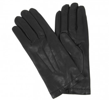 Black leather gloves - LYN